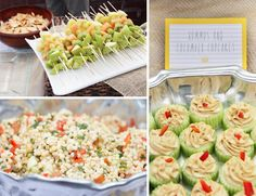 """Cucumber Hummus Cupcakes!!  Party inspired by """"Where the Wild Things Are""""."""