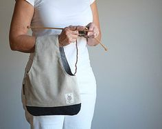 A project bag to put on your wrist... It makes your projects portable so you can knit anywhere. I need this, maybe more than one.