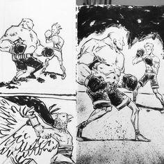 Sketchbooking.  http://rndm.us/vo  #moleskine #drawing #art #inktober #inktober2016 #sketchbook #boxer #boxing