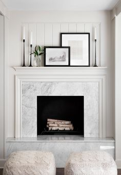 10 Ingenious Tricks: Livingroom Remodel With Fireplace living room remodel before and after open concept.Living Room Remodel With Fireplace Interior Design living room remodel before and after open concept.Living Room Remodel Before And After Columns. Fireplace Surrounds, Fireplace Design, Fireplace Ideas, Fireplace Decorations, Modern Fireplace Decor, Mantel Ideas, Mantles Decor, Modern Mantle, Marble Fireplace Surround