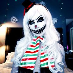 Creep Frosty The Snowman Makeup Tutorial