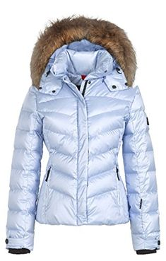 Bogner Fire & Ice Ski Jackets | Women's Sally 3-D|Fur|3473F|Glacier Blue (14)