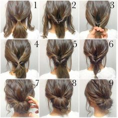 Easy, hope this works out quick morning hair!: Easy, hope this works out quick morning hair!:,Прически Easy, hope this works out quick morning hair! Peinado Updo, Hair Lengths, Hair Inspiration, Colour Inspiration, Hair Cuts, Hair Beauty, Beauty Makeup, Simple Hair Updos, Medium Length Hair Updos