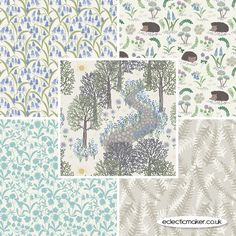 Bluebell Wood Fabric Pack by Lewis & Irene in Morning Model: LI5FQBWMO
