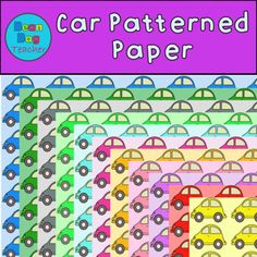 FREE THIS WEEKEND! Car Patterned Paper/ Background for Commercial Use