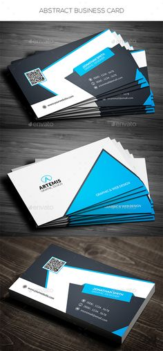 Abstract Business Card Template PSD #design Download: http://graphicriver.net/item/abstract-business-card/14480346?ref=ksioks