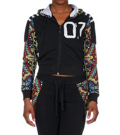 REDFOX+Multi+print+sleeve+hoodie+Long+sleeves+Printed+sleeves+and+panels+throughout+Adjustable+drawstring+on+hood+Soft+inner+fleece+for+ultimate+comfort+No+pockets+PAIR+WITH+FLAWLESS+JOGGER:+Style#+SL506P