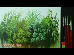 Acrylic Painting Lesson - How to Paint Grasses and Other Plants by JMLisondra - YouTube