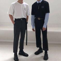 Korean Fashion Men, Korean Street Fashion, Mens Fashion, Men Fashion Casual, Fashion Top, Fashion Hair, Fashion Shoot, Fashion Dresses, Korean Outfits