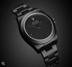 Black Rolex, Black Watches, Rolex Watches For Men, Luxury Watches For Men, Men's Watches, Hugo Boss Man, Dark Knight, Sally, Gold Watch