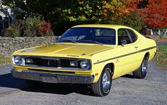 Bought a 1970 Plymouth Duster new. Burnt Orange w/black interior. Had the standard 318 w/ 3 speed floor shifter.