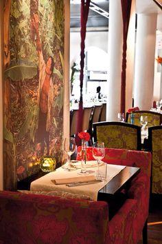 Lemongrass. Caribbean inspired restaurant in city centre. Really nice food. Main course around 250 NOK Velkommen http://lemongrass.no/index.php?p=reservation