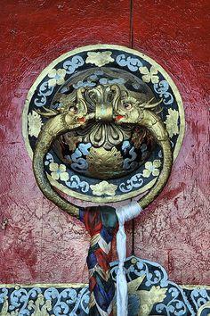 Ganden Monastery door handle