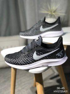 Mens Womens Sneakers Nike Air Zoom Pegadus 35 Shield Black White