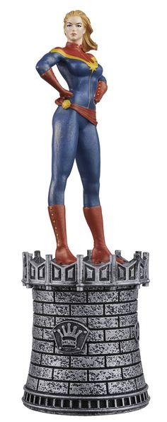 Eaglemoss Marvel Comics Chess Captain Marvel Figurine