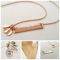 Personalized BAR Necklace Bridesmaid Necklace by RapunzelCroft