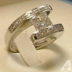 2.61 cttw Princess Radiant Cut Diamond Ring - $12500 (Bend, Oregon)