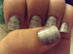 Tried the Newspaper nails!