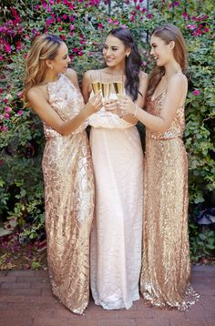 Rent gorgeous designer bridesmaids dresses from Vow To Be Chic starting at $50!