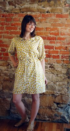 Now Shirt pattern converted to a summer shirt dress   Learn how at sewingworkshop.com/blog