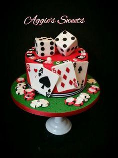 Poker Themed Cake Bday cake Pinterest Poker Cake and Birthdays