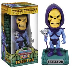 Masters Of The Universe Wacky Wobbler Skeletor. By The power of Gray Skull You have the power to collect all 4 of these classic characters in Bobble style. Shipping 12/20/2012. Pre-order now and not be charged until the item ships. Price: $11.99