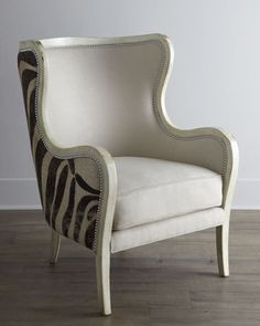 """Cartata"" Wing Chair by Massoud at Horchow.  Oh how I love, love, love"