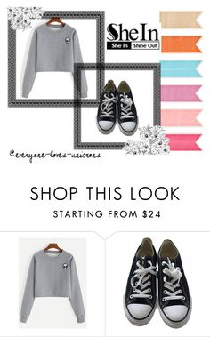"""Bez naslova #9"" by balsai ❤ liked on Polyvore featuring Converse"