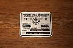 Captain America Shield Asset Tag Government Steve Rogers Vibranium Hydra Stark SSR Plate Serial Number First Avenger Cosplay Replica Prop Captain America Shield, Captain America Motorcycle, Steven Rogers, State Government, Stark Industries, Im Happy, Number One, Things To Come