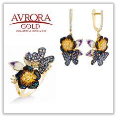 Бабочка — символ легкости и позитивного настроения!   #AvroraGold #Jewelry #girls #fashion #style #gold #бабочка