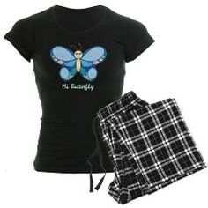 $31.89 - Hi Butterfly® Women's Dark Pajamas! Get your beauty rest in style with this comfy women's pajama set. These cozy pj's come with your choice of a soft pink/black or white/black plaid flannel bottom, plus your choice of black or white tee top! SHOP here: http://cutebrands.net/cute-shop-take-action/children-a-teens * a % of all annual revenues will be donated to select not-for-profit organizations that help protect & preserve endangered animals!