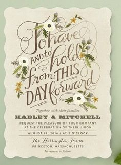 25 of the most amazing Botanical Green Wedding Invitations http://www.confettidaydreams.com/botanical-wedding-invitations/