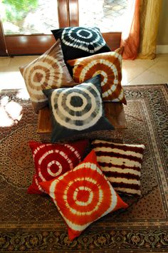 Tie Dye Throw Pillows