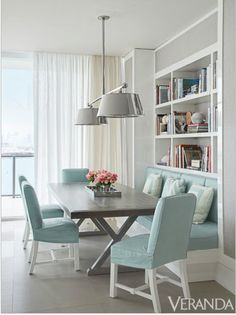 short skirted chairs with base table