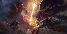 Grafika League of Legends Fantasy Images, Fantasy Art, Riot Points, Medieval, Fantasy League, League Of Legends Game, Art Station, Fantasy Illustration, Dark Souls