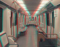 NadaMas Arte: Vagón de Metro Linea 5 (Madrid) 3D Analgyph (red/c... Madrid, Deviantart, 3d, Design, Home Decor, Personalized Mugs, Art, Pictures, Decoration Home