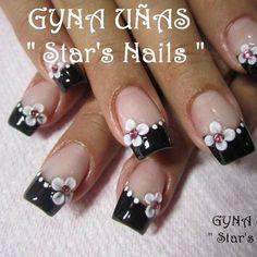 Uñas Star Nails, Mani Pedi, Hair And Nails, Short Nails, Flowers