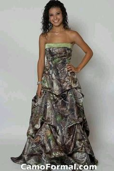 Camouflage Wedding Dress! I love this so much! :D