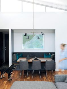 Large dining area - A blank slate turned high-contrast Vancouver penthouse