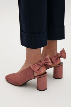 COS image 6 of Slingback bow pumps in Terracotta