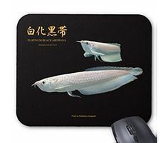 プラチナ・ブラックアロワナのマウスパッド:フォトパッド( 世界の熱帯魚シリーズ )
