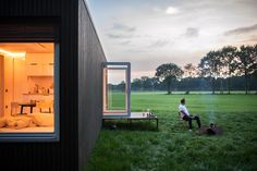 Founded by Xavier Leclair, Slow Cabins is a Belgian company that allows guests to rent one of three tiny cabins located in secret locations across Belgium. Tiny Cabins, Wooden Cabins, Archdaily Mexico, Get Off The Grid, Off Grid Cabin, Secret Location, Cabin Design, Am Meer, House And Home Magazine