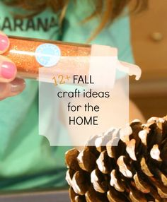 Bring on the Autumn leaves and pinecones, pumpkins and gourds, and candy corns - of course! Here are 12+ easy Fall craft ideas for the home.