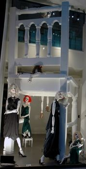 Lanvin, Rue du Faubourg Saint-Honoré, Paris.Artistic self-made mannequins like dolls hanging around an oversized chair show how creative, innovative and breathtaking visual merchandising can be.View Image Details