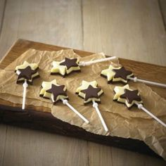 double star chocolate lolly mould from lakeland