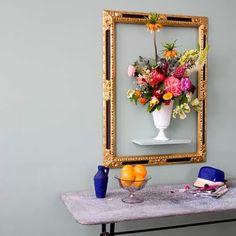 framed flowers...kind of genius