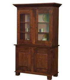 The Frazier Hutch is designed with beaded back two antique glass doors with trim inside door edge to block light wooden shelves pegged do. - May 04 2019 at Furniture Direct, Amish Furniture, Affordable Furniture, Furniture Making, Hutch Furniture, Furniture Nyc, Cheap Furniture, Furniture Plans, Wooden Shelves