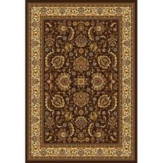 Shop Home Dynamix Brussels Rectangular Brown Floral Woven Area Rug (Common: 8-ft x 10-ft; Actual: 7.66-ft x 10.33-ft) at Lowes.com  Also in a green color.