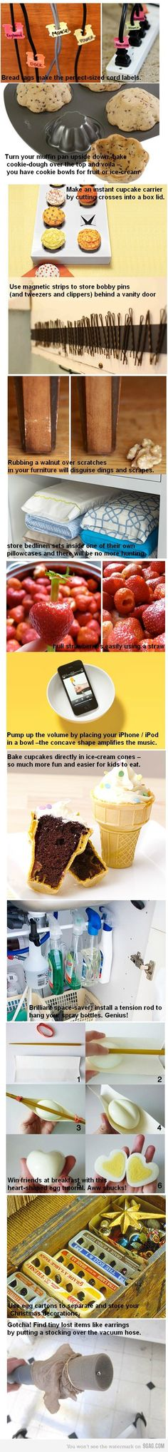 great household tips.... and my boyfriend sent me this!  (somebody secretly wants to be on Pinterest!)