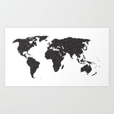 A map of the world in black and white. map, world, earth, global...